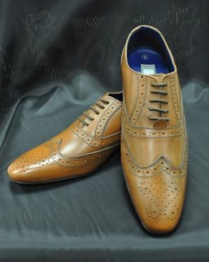 Tan Brogue Shoes For Men, To Buy Only